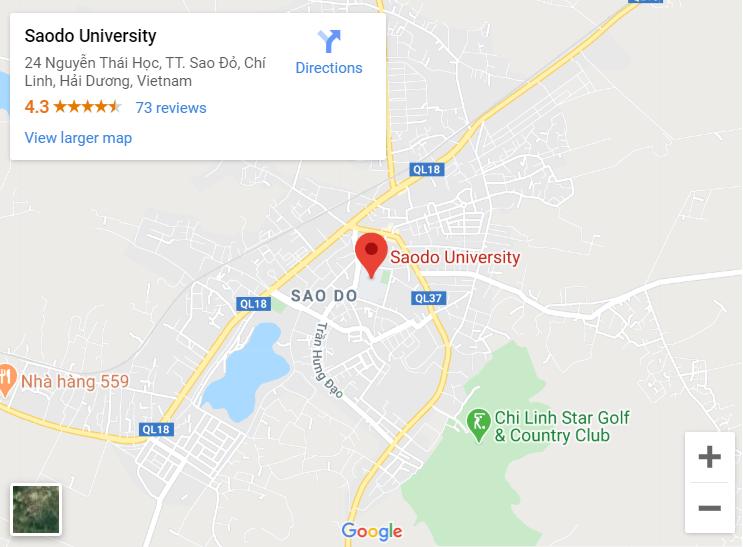 Địa chỉ trường Đại học Sao Đỏ